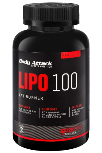 Body Attack Lipo 100, 60 Kaps.