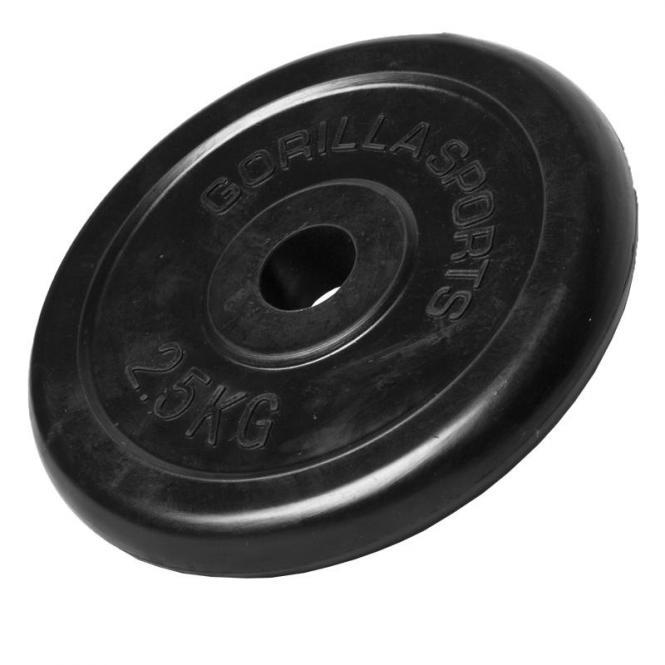 2,5 kg Gummi Hantelscheibe