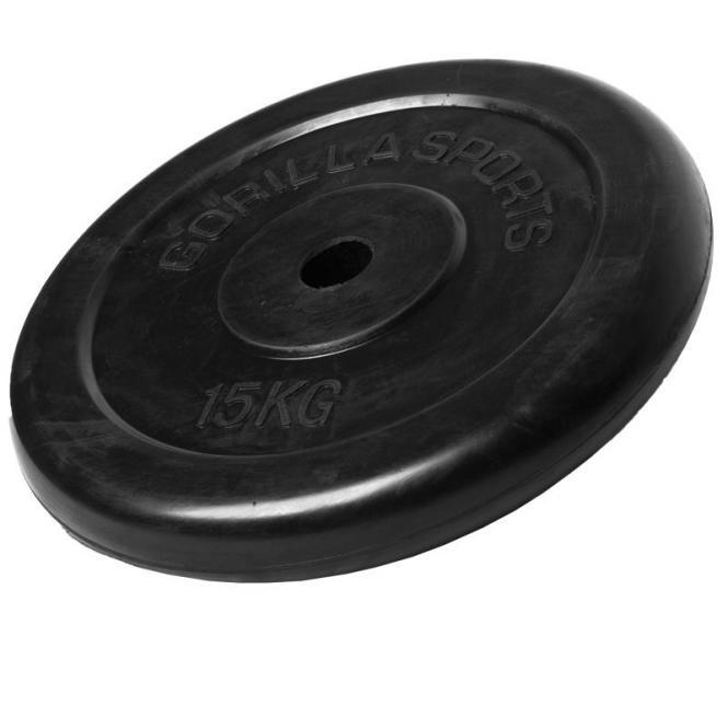 15 kg Gummi Hantelscheibe