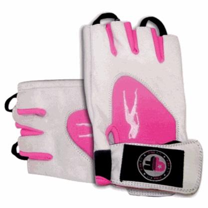 BioTech USA Lady Pink Fit Gloves, Weiß-Pink