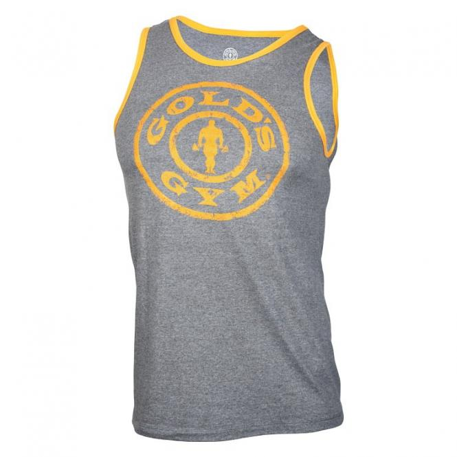Golds Gym Muscle Joe Contrast Athlete Tank, Arctic/Gold
