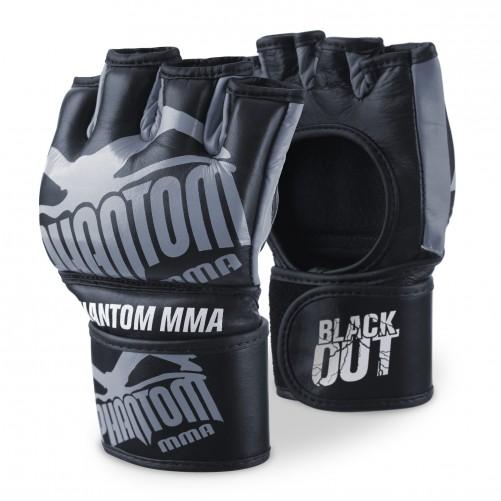Phantom MMA Handschuhe Blackout, Schwarz/Grau