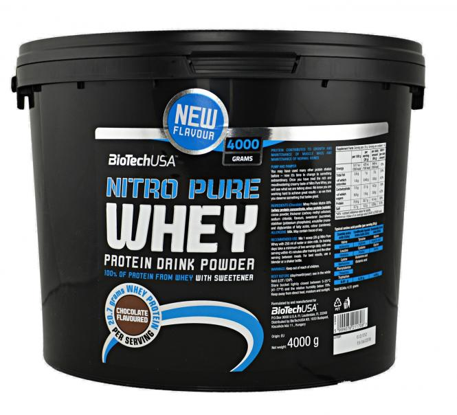 BioTech USA Nitro Pure Whey Gold, 4000g