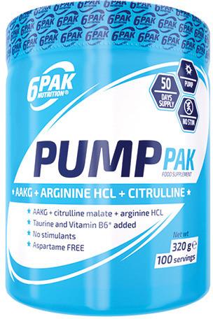6 Pak Nutrition Pump Pak, 320g