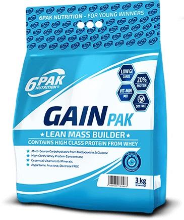6 Pak Nutrition Gain Pak, 3000g