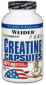 Weider Pure Creatine Capsules, 200 Kaps.