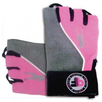 BioTech USA Lady Pink Fit Gloves, Grau-Pink M