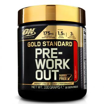 Optimum Nutrition Gold Standard Pre-Workout, 330g (MHD Ware) Fruit Punch (MHD: 05/2021)