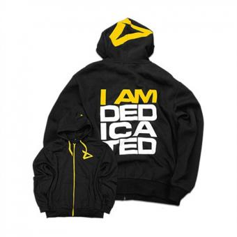 Dedicated Hoodie I Am Dedicated, Schwarz