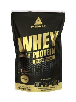 Peak Whey Protein Concentrate, 1000g Blueberry-Vanilla