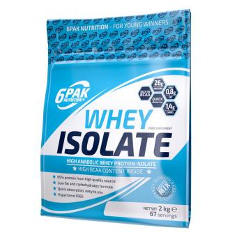 6 Pak Nutrition Whey Isolate, 2000g