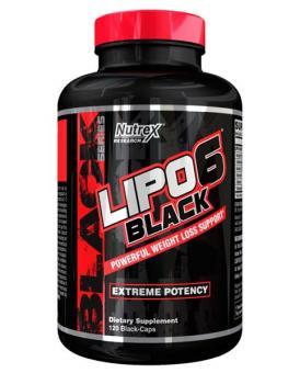 Nutrex Lipo 6 Black, 120 Kaps.