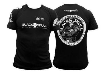 Black Skull T-Shirt Army Zero One, Black