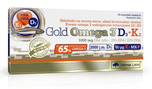 Olimp Gold Omega 3 D3 + K2, 30 Kaps.