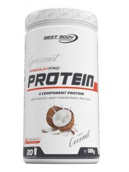 Best Body Nutrition Gourmet Premium Pro Protein, 500g Coconut (MHD: 31/05/2021)