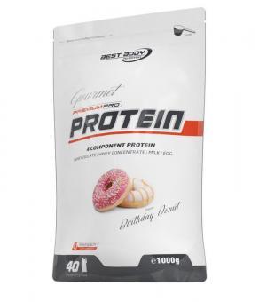 Best Body Nutrition Gourmet Premium Pro Protein, 1000g Birthday Donut (MHD: 08/2021)