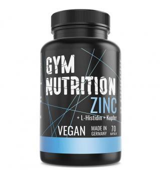 Gym Nutrition Zink + L-Histidin Kupfer Komplex, 70 Kaps.
