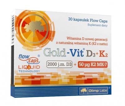 Olimp Gold-Vit D3 + K2, 30 Kaps.